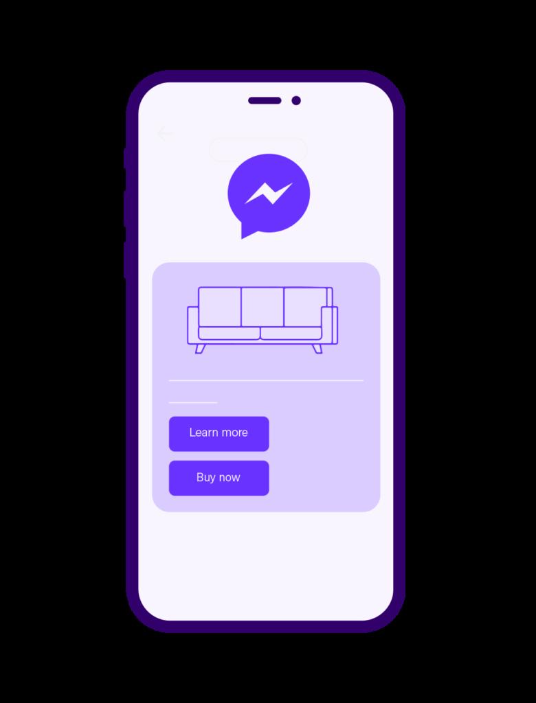 Facebook Messenger Phone Graphic