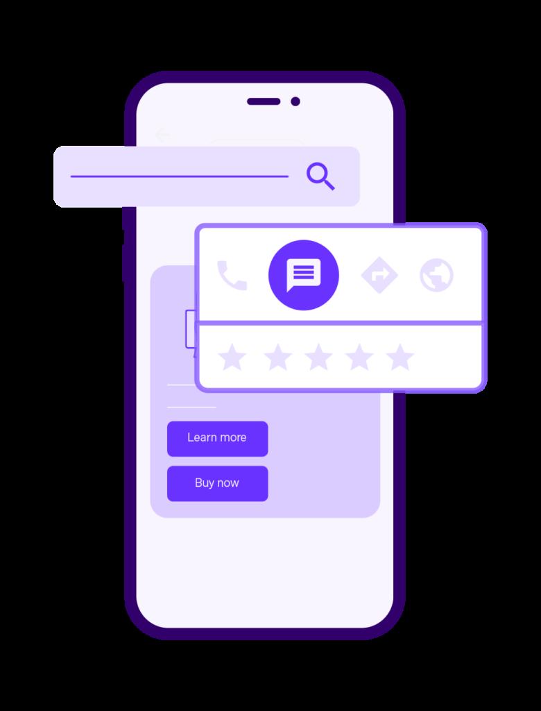Google Business Messenger Phone Graphic